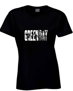 Green Day Faceook Cover Title  Womens T Shirt
