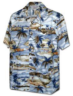 6e3fa1805 ... Aloha Shirt in Navy. Paradise Clothing Co · Men's Hawaiian Shirts · $39  Tropical Outfit, Hawaiian Print, Golf Shirts, Golf Tips, Mens Hawaiian  Shirts