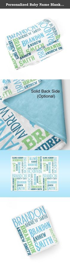 Personalized Baby Name Blanket 03 - Blue Lime Baby Swaddling Blanket Photo Prop. 1 Personalized Baby Blanket - makes a great Baby Gift ~ I Design and Customize, You Give the Perfect Gift!~ My Personalized Baby is perfect for a new mom or mom to be! Wrap your precious baby, with a warm embrace, in this soft and cuddly blanket. Savor those close moments with your sleeping baby, as they relax in the warm comfort of the blanket in your arms. Give a child you love, the gift of a personalized...