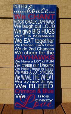 KU Jayhawks House Rules by TheRuffledDaizy on Etsy