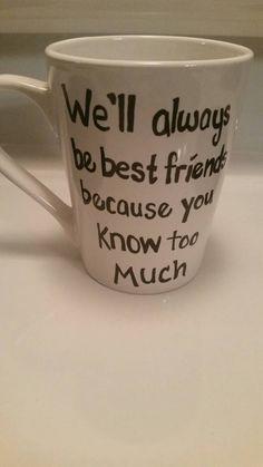 Best friend mug by TaylorsCraftCorner on Etsy