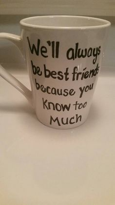 Best friend mug by TaylorsCraftCorner on Etsy