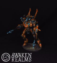 Eldar Wraith Knights showcase painted by Awaken Realms