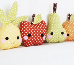 fruit plushies