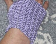 Crochet wrist warmers - design your own.  You can do better than mine!