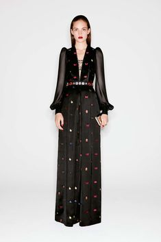 It's not difficult to envision Kate in this gown done in a custom fabric.  Alexander McQueen Pre-Fall 2016 Fashion Show