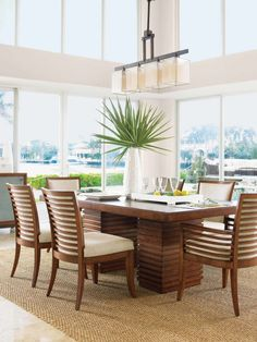 Get inspired by Coastal Dining Room Design photo by Wayfair. Wayfair lets you find the designer products in the photo and get ideas from thousands of other Coastal Dining Room Design photos. Dining Table In Kitchen, Dining Room Sets, Dining Room Design, Dining Room Furniture, Coastal Furniture, House Furniture, Dining Tables, Garden Furniture, Tommy Bahama