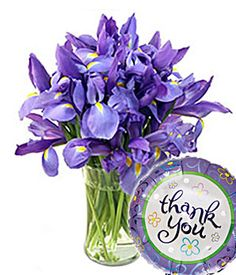 Flowers - Stunning Blue Iris Thank You (bestseller) Blue Iris Flowers, Cut Flowers, Fresh Flowers, Congratulations Flowers, Iris Bouquet, Thank You Wishes, Thank You Flowers, Best Honey, Vase