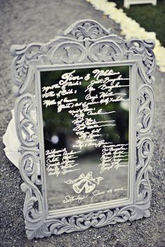 I love the idea of writing messages on a mirror. The notion of a constant reflection of good times, memorable moments etc is a striking idea!