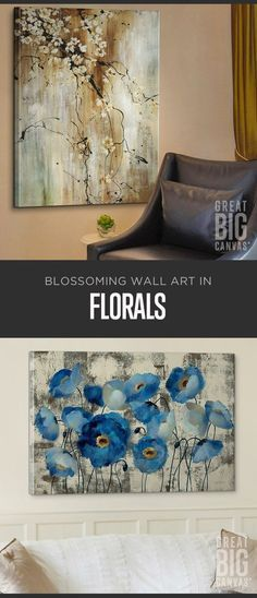 A garden of choices-fields of brilliant color, or the intricate details of a single petal. Let your home blossom with our Floral Collection wall art at GreatBIGCanvas.com.: