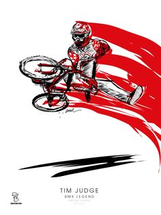 TIM JUDGE - BMX LEGEND Artworks BOUL www.Boulplanet.com #timjudge #bmxlegend #artworks #bmx #illustration #boulplanet #boul