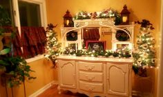 So this one was a challenge as the top is an old mantel that Richard attached to this buffet per our customers request. Even with it's challenges it was all worth it as it came out beautiful!