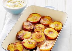 Grilled Nectarines with Passionfruit Yoghurt