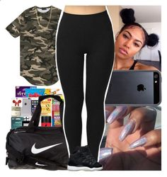 Untitled #751 by msixo ❤ liked on Polyvore featuring NIKE, Bianca Pratt and Tavik