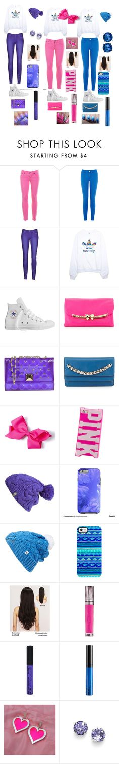 """""""OMG"""" by orsby-jamyia ❤ liked on Polyvore featuring J.Crew, Oasis, 7 For All Mankind, adidas, Converse, Betsey Johnson, Hervê Guyel, Valentino, The North Face and '47 Brand"""