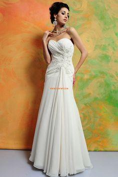 Herz-Ausschnitt Elegant & Luxuriös 3/4 Arm Brautkleider 2014