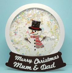 snowglobe snowman Free holiday cut files including silhouette format with ideas on how to use Scrapbook Christmas Cards, Xmas Cards, Scrapbook Cards, Holiday Cards, Winter Karten, Snowman Cards, Shaped Cards, Bird Cards, Winter Cards