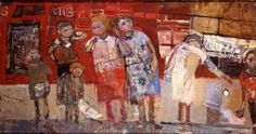 I adore Joan Eardley's paintings, one of my favourites is in the Kelvingrove Gallery. This is the kind of thing I imagined my heroine Lyndsey painting later in her career