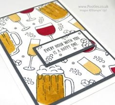 Stampin' Up! Demonstrator Pootles –Colour Your World Blog Hop – Mixed Drinks You know I swear, these colour palettes are trying to kill me off! Green? Green? With yellows and red…