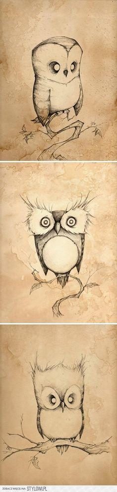 #pencil #owls