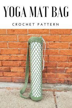 Crochet your own yoga mat bag with this diamond mesh pattern! Made from sustainable cotton, custom made bags are also available from My Only Sunshine. #yoga #namaste #yogaeverydamnday #crochetpattern #crochet Yoga Bag Pattern, Bag Pattern Free, Bag Patterns To Sew, Crochet Patterns, Wallet Pattern, Crochet Ideas, Sewing Patterns, Crochet Shell Stitch, Free Crochet
