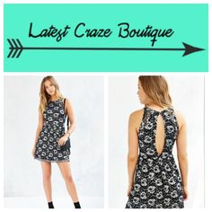 🏝SUMMER SALE🏝 URBAN OUTFITTERS Lace Skater Dress 🏝WAS $40: no offers🏝 Made by Kimichi Blue, cut in a fit & flare silhouette featuring two-tone sheer floral lace over a solid knit, has open back with button closure at the neck! Urban Outfitters Dresses