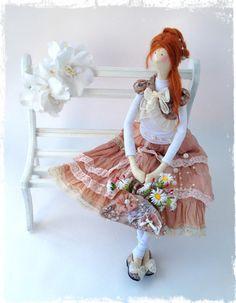 Интерьерная текстильная кукла Тильда в стиле by LilyDollsGifts