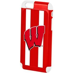 Forever Collectibles Wisconsin Badgers iPhone 6 Case ($25) ❤ liked on Polyvore featuring accessories, tech accessories and red
