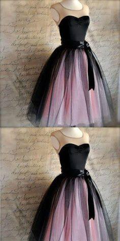 Sweetheart Sleeveless Black Tulle Homecoming Dresses
