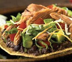 Fiesta Smoked Salmon Tostadas | #chickenofthesea #salmon #mexican #under500calories
