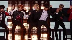 Boy group dancing to other boy group - YouTube