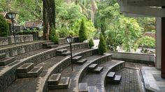 A small amphitheatre at one of the chapels at Goa Maria Sendangsono, Indonesia
