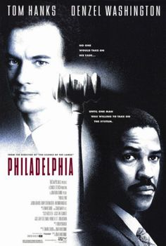 Tom Hanks and Denzel Washington give powerful performances in Jonathan Demme's 1993 film Philadelphia - one of the first movies to tackle AIDS and homosexuality. Film Movie, See Movie, Movie Cast, Tom Hanks Filme, Philadelphia Movie, Tom Hanks Movies, Film Mythique, Films Cinema, Bon Film