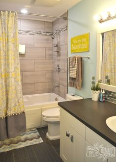 Decorating kids bathroom can be very fun. Every corner of the bathroom is about fun. #kidsbathroom