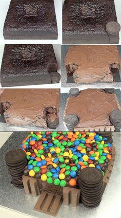 KIT KAT & M CASTLE CAKE
