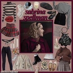 the chilling adventures of sabrina 🔮 this is shit lol, guys i loooved her outfits so i apologize in advance for all the sabrina stuff i'm gonna be posting lmao Style Année 60, Looks Style, School Looks, Visual Kei, Grunge Goth, Witchy Outfit, Harajuku, Sabrina Spellman, Witch Fashion