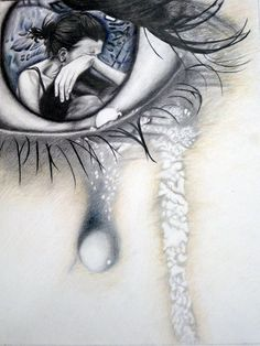 Images of sad art drawings - Pencil Art, Pencil Drawings, Art Drawings, Lip Pencil, Deviantart Zeichnungen, Sad Eyes, Sad Art, Gcse Art, Drawing Sketches
