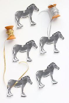 DIY skating zebra ornaments