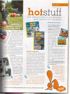Eardrops in Parenting Magazine downloads, CDs and more information at www.eardrops.co.nz