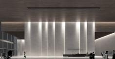 Citygroup Lobby Interior, Interior Lighting, Interior Architecture, Wall Lighting, Auditorium Design, Hotel Lobby Design, Lounge Design, Lounge Decor, Ceiling Design