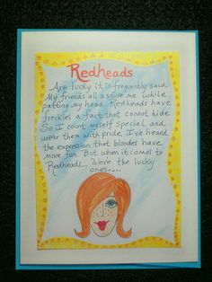 Redheads With Freckles Are The Lucky Ones Redhead Facts Quotes Natural Red