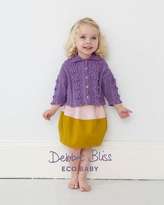 Debbie Bliss Bobble & Cable Cardigan
