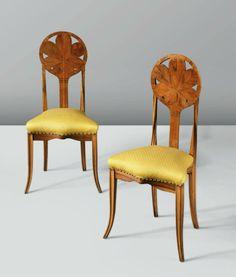 Art Nouveau Chairs by Louis Majorelle 1895