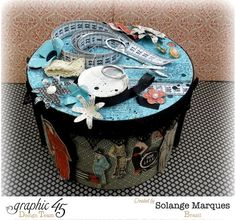 Stunning altered Couture sewing box by the amazing Solange #graphic45