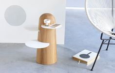 Dutch furniture design company RKNL, have created BoBo, a side table that was inspired by the African Baobab tree Ikea Furniture, Furniture Projects, Cool Furniture, Furniture Design, Building Furniture, Furniture Stores, Contemporary Side Tables, Modern Side Table, Contemporary Design