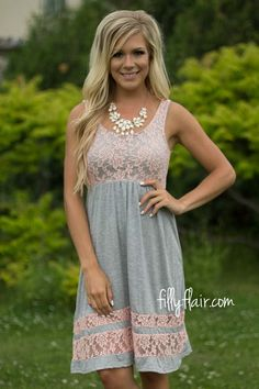 My Perfect Spring Dress in Grey