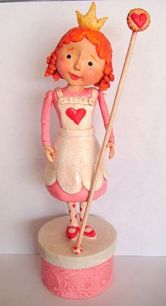 *PAPER CLAY ~ Custom Queen of Tarts by thepolkadotpixie, via Flickr