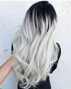 9194b0e6b37e2eaf1dc4f09fb49da682--ombre-hair-platinum-silver-black-ombre-hair.jpg 665×830 pixels