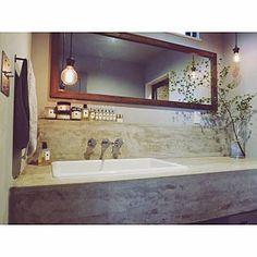 Bathroom/インテリア/雑貨/新居/家/ペンダントライト...などのインテリア実例 - 2017-09-14 01:52:09