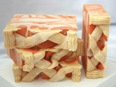 Cold Process - Pie Soap Recipe (or whatever kind of pie you want to make... grins, this looks more like carrots than peaches.. Deb)